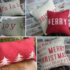 rustic christmas cushions