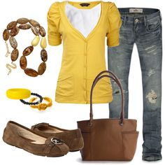 """""""Sunny Browns"""" by heather-rolin on Polyvore"""