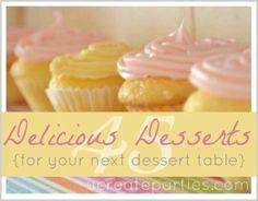 dessert tables, party treats, dessert recipes, tabl recip, party desserts, sweet treats, dessert ideas, party recipes, healthy desserts