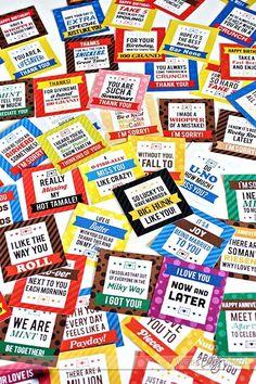 Printable Candy Bar Gift Tags