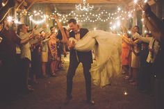 adorable sparkler exit, photo by The Nickersons http://ruffledblog.com/north-arm-farm-wedding #weddingideas