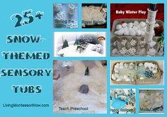 25+ Snow-Themed Sensory Tubs