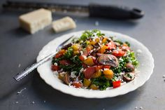 Warm Balsamic Kale Salad - Pinch of Yum