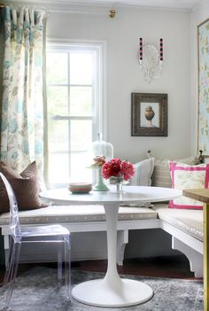 Breakfast Nook created by Kristin Jackson of the Hunted Interior using Laura Ashley Products for Domino