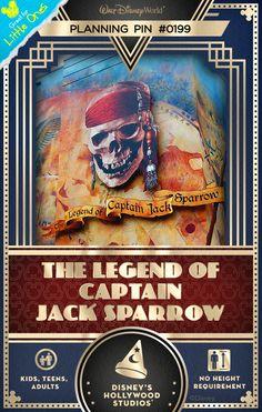Walt Disney World Planning Pin: The Legend of Captain Jack Sparrow