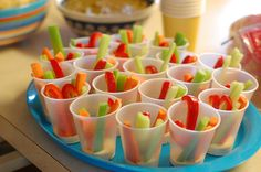 Veggie sticks and ranch in individual serving cups!