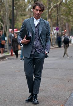 Street Style: The Man in the Silk Blazer: The Daily Details: Blog : Details