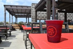 Frozen drinks on the rooftop at HG Sply Co. Love this place!