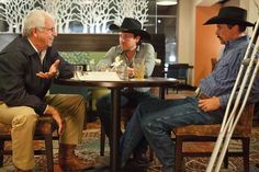 William Devane as 'Doc' Blach, Christian Kane as Mark Allen and Skeet Ulrich as Chip Woolley in a scene from 50 to 1