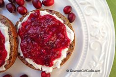 Gourmet Girl Cooks: Cranberry Walnut Power Bagels - Grain Free & Low Carb
