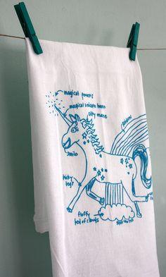 Magical Unicorn tea towel!