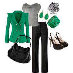"""""""Business Aqua"""" by mmmorman on Polyvore"""