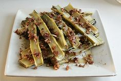 Broccoli Marrow with Pecan, Garlic Butter