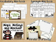 Mapping and Pirate Unit.  Full of Centers, a poem, craftivity and map skills posters and activities.