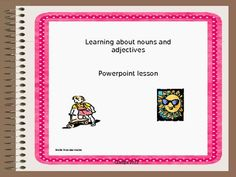 This is a presentation explaining the difference between nouns and adjectives.  Students are given an opportunity after each mini lesson to identify the noun or adjective in the sentences provided. Check it out! $