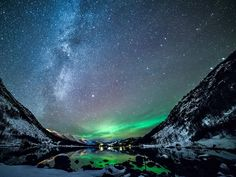 a cold winter night in Norway