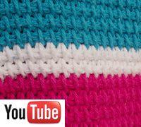 tunisian stitch (afghan stitch) using afghan crochet hook