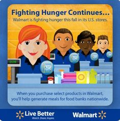 Fighting Hunger with Walmart - Help with your purchases today!