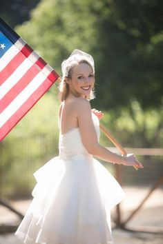 patriotic bride // photo by Orange Blossom Photography