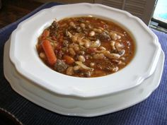 soups, sausages, crockpot, pasta soup, white bean