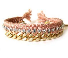 Rhinestone Friendship Bracelet ♥