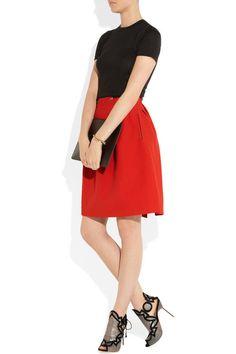 fashion, woolcrep skirt, crepe skirt, sophia webster, skirts