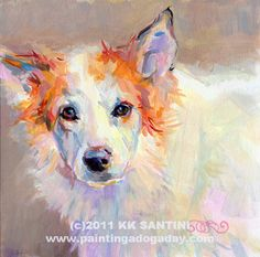 Zoe, another pet portrait by Kimberly Kelly Santini of Painting a Dog a Day