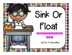 Sink or Float bundle: class book and interactive booklets include:  -A Sink or Float class book to read before conducting a science experiment to see which items sink and which items float. The items in the page can be easily found around schools.  -An interactive easy reader that is leveled. Students can cut and paste their answer from the choice sheet or they can write the answer in.  $2.75 #science #experiments