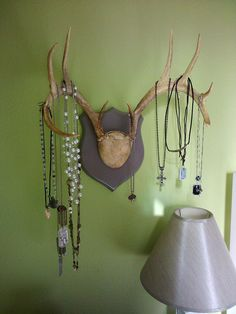 jewelry storage. I WANT THIS!!!! maybe with my next deer :)
