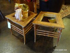 Upcycled Chair Side-Tables
