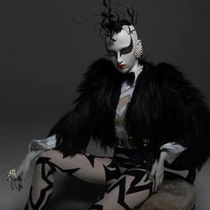 ... cyberpunk, costum, fashion, black clothes, di renzo, dresses, patrizio di, black white, photography