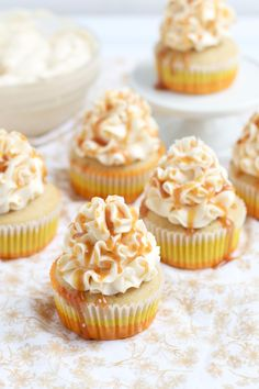 Ultimate Salted Caramel Cupcakes via The Baker Chick