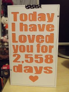 Great idea for an anniversary, wedding day or any other day with your loved one!