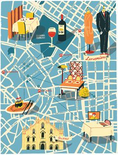readers digest, artists, maps, illustrations, milan illustration