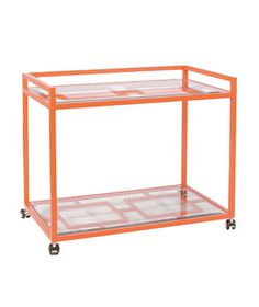 Worlds Away Hampton Orange Bar Cart as seen on @Real Simple DAILY FINDS  Perfectly Portable Bar Cart Options