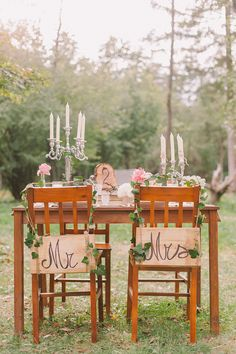 sweetheart table // photo by Nastja Kovacec http://ruffledblog.com/woodsy-slovenia-styled-wedding #tables #sweethearts #rustic