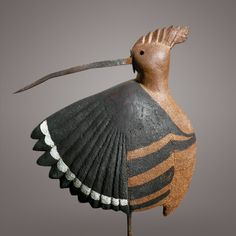 african hoopo, african ceramics, bird art, animaux ceramiqu