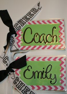 Cheer Luggage Tags ~