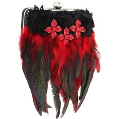 Inspired by Claire Jane Gothic Feather Purse ($240) ❤ liked on Polyvore