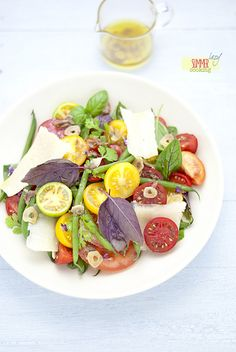 tomatoes salad with anchovy dressing