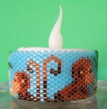 Monkey Tea Light Cover Pattern