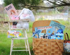 awesome Easter basket ideas...more than just candy holidayseason idea, basket idea, uniqu easter, baskets, high chairs, easter basket