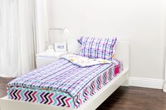 Zipit Bedding Mix 'N Match with Sweet Stuff and Rocker Princess. Zipit Bedding is America's FIRST all-in-one zippered bedding that will forever change the way people, of ALL ages, make their beds! Simply put, it works like a Sleeping Bag… you just Zipit!