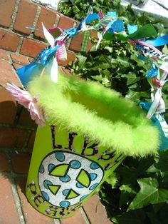 do this for Easter baskets add trim so cute