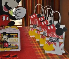 Mickey Mouse Gift bags by cricflix on Etsy, $26.00