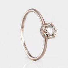 simple unusual engagement ring