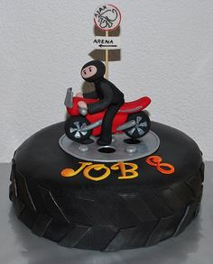 Motorcycle & Soccer Team Cake