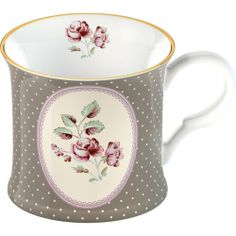 Katie Alice 'Ditsy Floral White Oval' Bone China Palace Mug