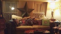 Pillow, star, couch