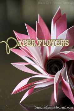 How do you teach your kids to express their love for others? This paper flower is perfect for grade school kids to make for Valentines Day, (post features a video tutorial). #PaperFlowers #ValentinesDay #LessonsLearntJournal. Very Cool!